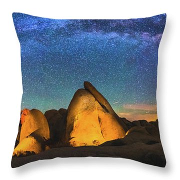 Hidden Valley Milky Way Throw Pillow