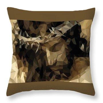 Throw Pillow featuring the digital art Hidden With Christ by Karen Showell