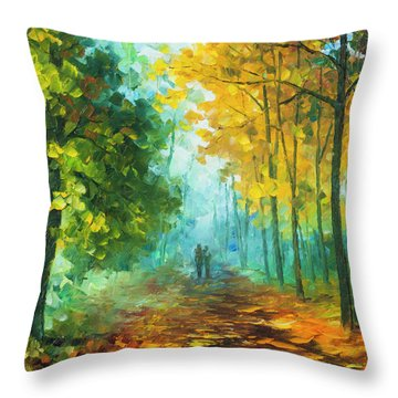 Hide And Seek  Throw Pillow by Leonid Afremov