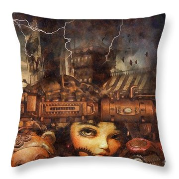 Hide And Seek Throw Pillow by Mo T