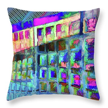 Throw Pillow featuring the digital art Hide And Seek by Wendy J St Christopher
