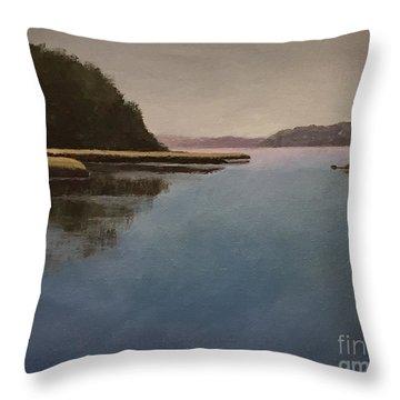 High Tide Little River Throw Pillow