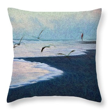 Hide Tide Throw Pillow