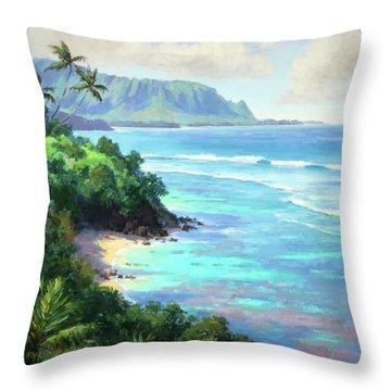 Hideaways Beach Throw Pillow by Jenifer Prince