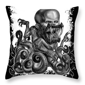 Hideous Truth About An Unknown Birth Throw Pillow