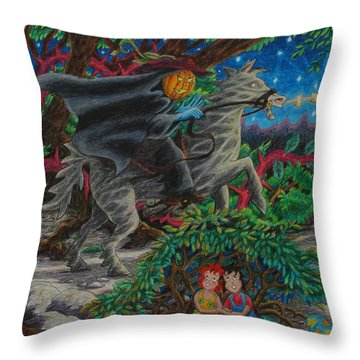 Hiding From The Wraith Rider ... Throw Pillow