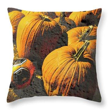 Hiding In Plain Pumpkin Throw Pillow