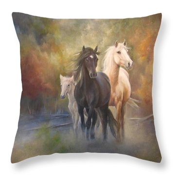 Hiding In The Mist Throw Pillow