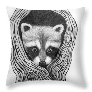 Hiding Out Throw Pillow by Nick Gustafson