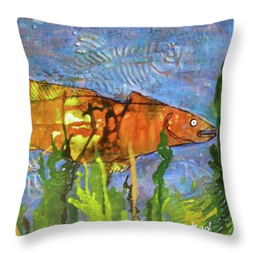 Hiding Out Throw Pillow by Terry Honstead