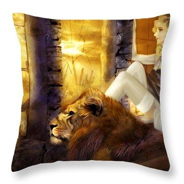 Hiding Shelter Throw Pillow by Svetlana Sewell