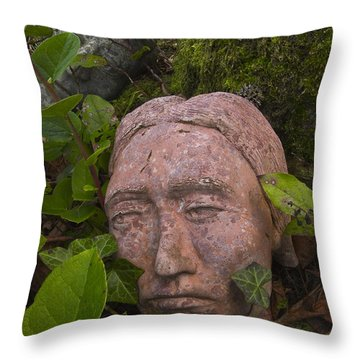 Hiding Signed Throw Pillow