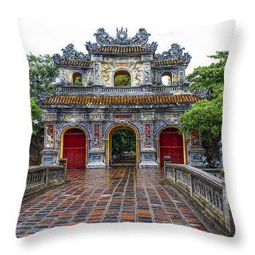 Hien Nhon Gate, Citadel, Hue,vietnam Throw Pillow