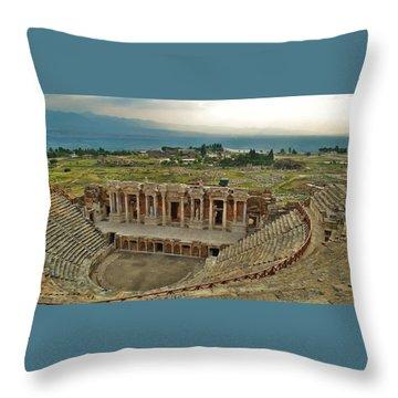 Hierapolis Theater Throw Pillow
