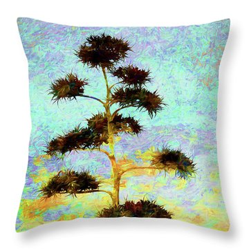 High Above The City Throw Pillow by Declan O'Doherty