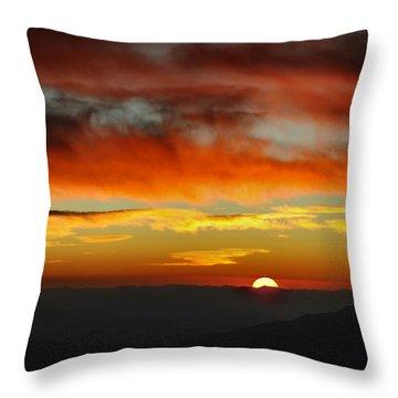 Throw Pillow featuring the photograph High Altitude Fiery Sunset by Joe Bonita