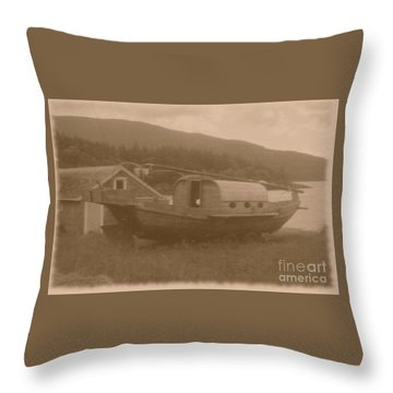 Throw Pillow featuring the photograph High And Dry In Sepia by Charles Robinson