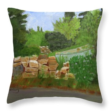 Throw Pillow featuring the painting High And Dry by Linda Feinberg