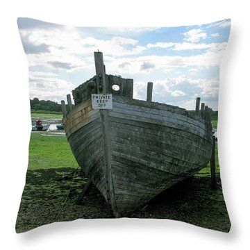 Low Tide Throw Pillow by Maria Joy