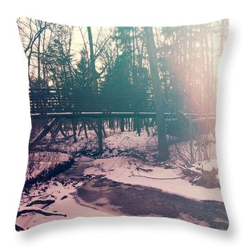 Throw Pillow featuring the photograph High Cliff Bridge by Joel Witmeyer