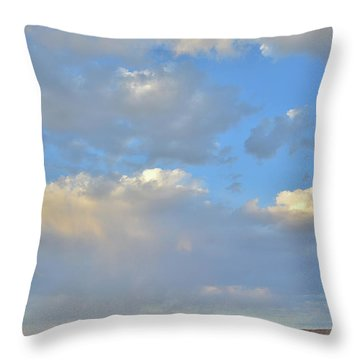 High Clouds Over Caineville Wash Throw Pillow