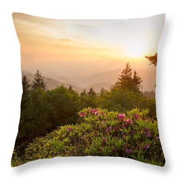 High Country Sunset Throw Pillow