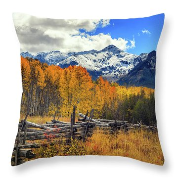 High County Ablaze Throw Pillow by Rick Furmanek