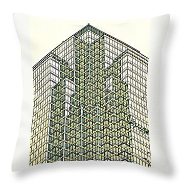 Downtown Dallas Throw Pillow