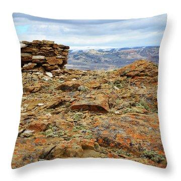 High Desert Cairn Throw Pillow