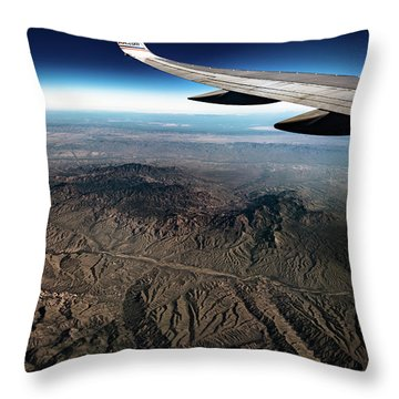High Desert From High Above Throw Pillow