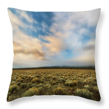 Throw Pillow featuring the photograph High Desert Morning by Ryan Manuel