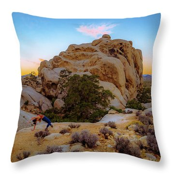 High Desert Pose Throw Pillow