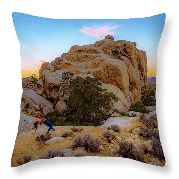 High Desert Pose Throw Pillow