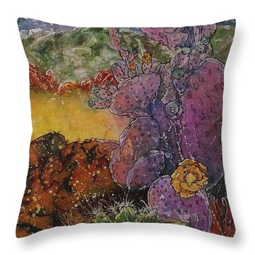 High Desert Spring Throw Pillow