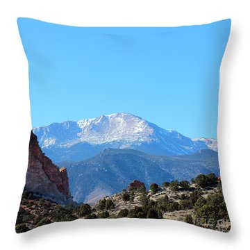 High Desert Winter Throw Pillow