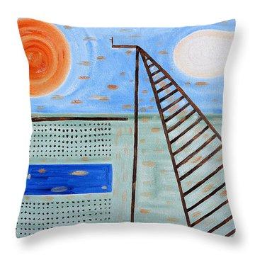 High Dive Throw Pillow by Patrick J Murphy
