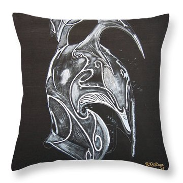 High Elven Warrior Helmet Throw Pillow