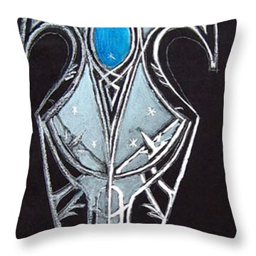 High Elven Warrior Shield  Throw Pillow