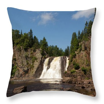 High Falls At Tettegouche State Park Throw Pillow