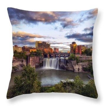 Throw Pillow featuring the photograph High Falls Crop by Mark Papke
