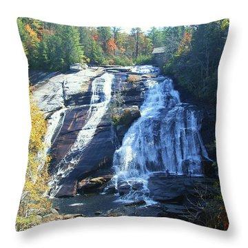 High Falls In Autumn Throw Pillow