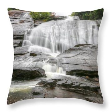 Throw Pillows Uncovered : High Falls Of Dupont State Forest Photograph by Carol R Montoya
