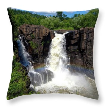 High Falls On Pigeon River Throw Pillow