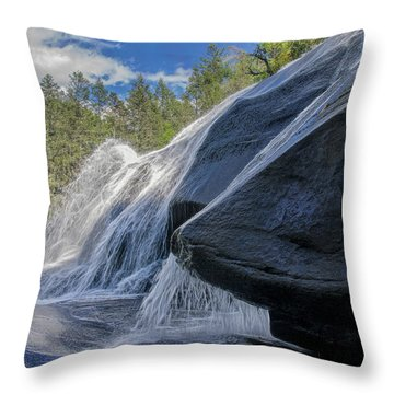 Throw Pillow featuring the photograph High Falls One by Steven Richardson
