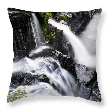 High Falls Park Throw Pillow