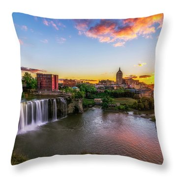 High Falls Rochester Ny Throw Pillow