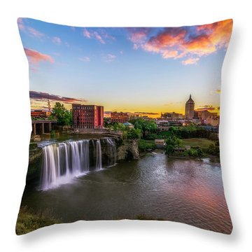 High Falls Rochester Ny Throw Pillow