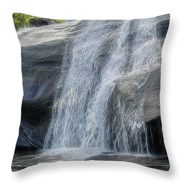 Throw Pillow featuring the photograph High Falls Two by Steven Richardson