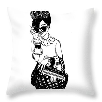 High Fashion 2 Throw Pillow