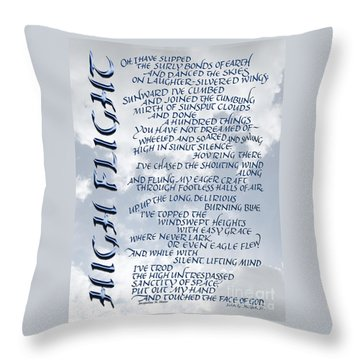 High Flight Throw Pillow